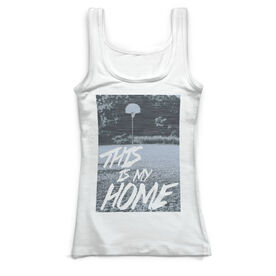 Basketball Vintage Fitted Tank Top - This Is My Home