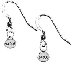 Sterling Silver 140.6 Triathlon Earrings