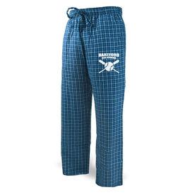 Softball Lounge Pants Team Name With Crossed Bats