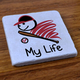 My Life Baseball - Stone Coaster