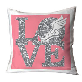 Track and Field Throw Pillow Winged Foot Love