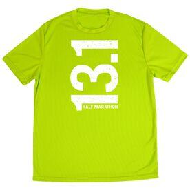 Men's Running Customized Short Sleeve Tech Tee 13.1 Half Marathon Vertical
