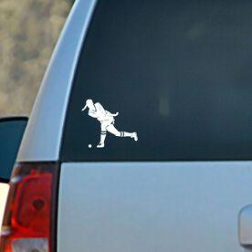 Vinyl Car Decal Field Hockey Girl Shooting