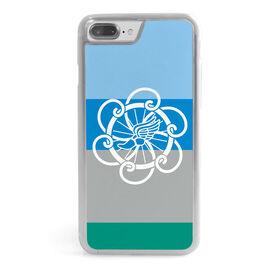 Triathlon iPhone® Case - Tri Logo With Horizontal Stripes