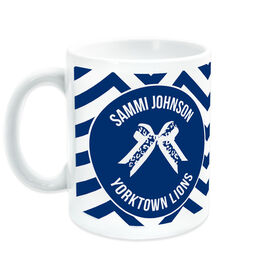 Cheerleading Ceramic Mug Personalized Bow