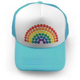 Volleyball Trucker Hat - Rainbow