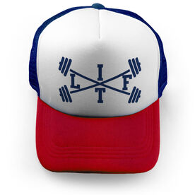 Cross Training Trucker Hat - Lift With Barbells