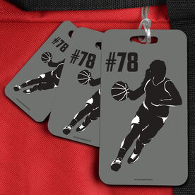Basketball Bag/Luggage Tag Personalized Female Player