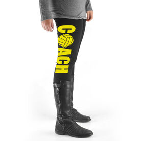 Volleyball High Print Leggings Coach with Volleyball