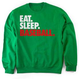 Baseball Crew Neck Sweatshirt Eat. Sleep. Baseball.