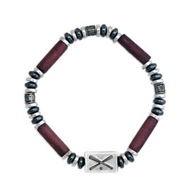 Power Hematite SportBEAD Baseball Bracelet (Brown) - SPECIAL PRICING - LIMITED QUANTITES