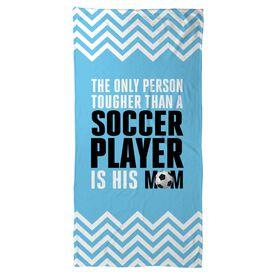 Soccer Beach Towel Tougher Than A Soccer Player