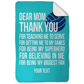 Volleyball Sherpa Fleece Blanket Dear Mom