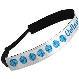 Julibands No-Slip Headbands Volleyball Text with Volleyballs