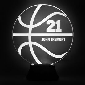 Basketball Acrylic LED Lamp Ball With Name and Number