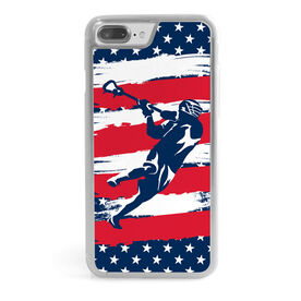 Guys Lacrosse iPhone® Case - USA Laxer