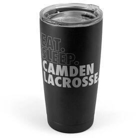 Lacrosse 20 oz. Double Insulated Tumbler - Personalized Eat Sleep Lacrosse