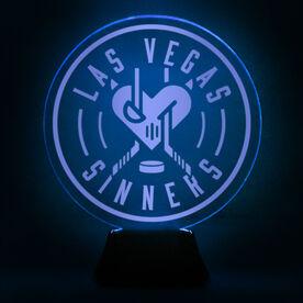 Acrylic LED Lamp - Las Vegas Sinners Logo