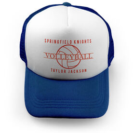 Volleyball Trucker Hat - Personalized Crest