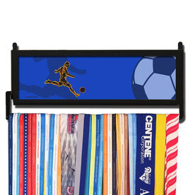 AthletesWALL Neon Soccer Player Medal Display