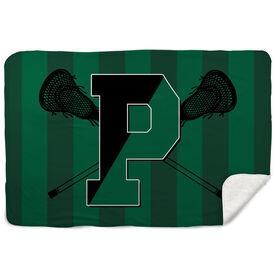 Sherpa Fleece Blanket - Pentucket Youth Lacrosse Logo