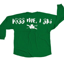 Skiing Statement Jersey Shirt Kiss Me I Ski