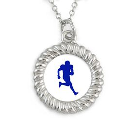 Braided Circle Necklace Custom Team Color Football Running