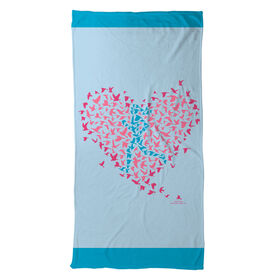 Running Beach Towel Run With Your Heart