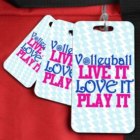 Volleyball Bag/Luggage Tag Volleyball Like It Love It Play It