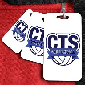 Sport Bag/Luggage Tag Custom Volleyball Logo