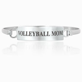 Volleyball Engraved Clasp Bracelet - Mom (Text)