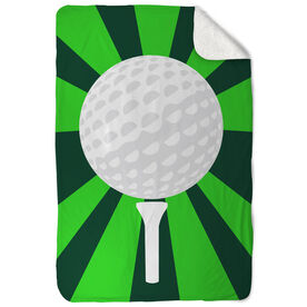 Golf Sherpa Fleece Blanket Ball And Pin