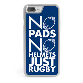 Rugby iPhone® Case - No Pads No Helmets Just Rugby