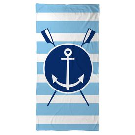 Crew Beach Towel Oars Anchor