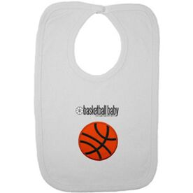Basketball Baby Bib with Embellishment