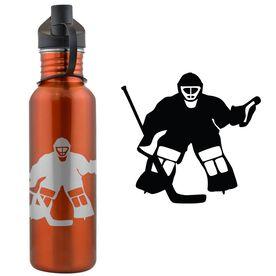 Hockey Goalie 24 oz Stainless Steel Water Bottle