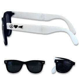 Foldable Cheerleading Sunglasses Peace Love Cheer