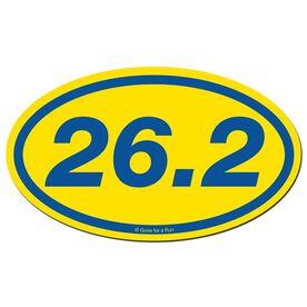 26.2 Marathon Car Magnet - Yellow