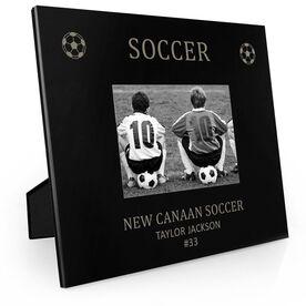 Soccer Engraved Picture Frame - Soccer & Balls