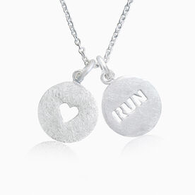 Livia Collection Sterling Silver Run Love Necklace
