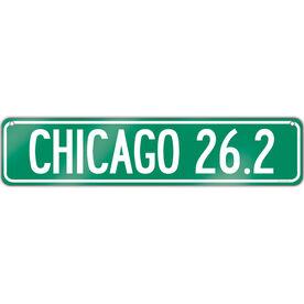 """Running Aluminum Room Sign Chicago 26.2 (4""""x18"""")"""