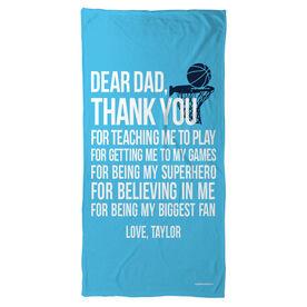 Basketball Beach Towel Dear Dad