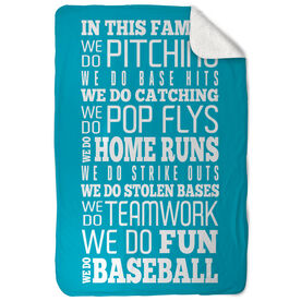 Baseball Sherpa Fleece Blanket We Do Baseball