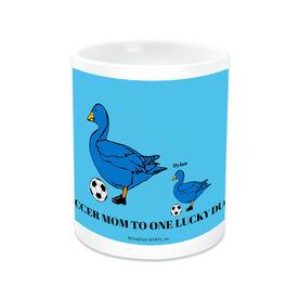 Soccer Ceramic Mug Soccer Mom Lucky Ducks