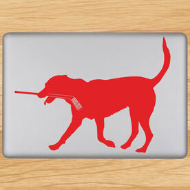 Hockey Dog Removable ChalkTalkGraphix Laptop Decal