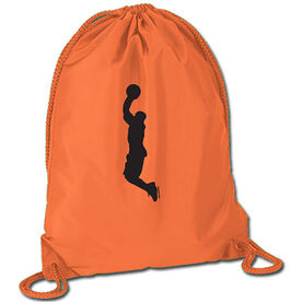 Basketball Player Silhouette Sport Pack Cinch Sack