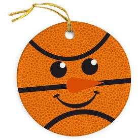 Basketball Porcelain Ornament Snowman Ball