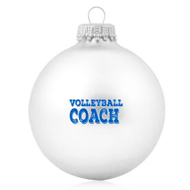 Volleyball Glass Ornament Volleyball Coach