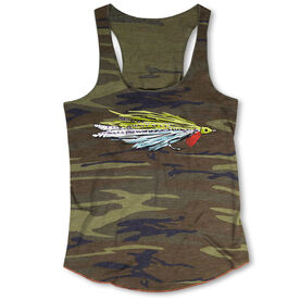 Fly Fishing Camouflage Racerback Tank Top - Deceiver Fly