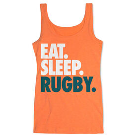 Rugby Women's Athletic Tank Top Eat. Sleep. Rugby.